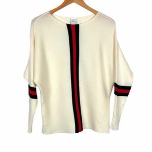 Northern Angel Color Block Sweater Large Cream